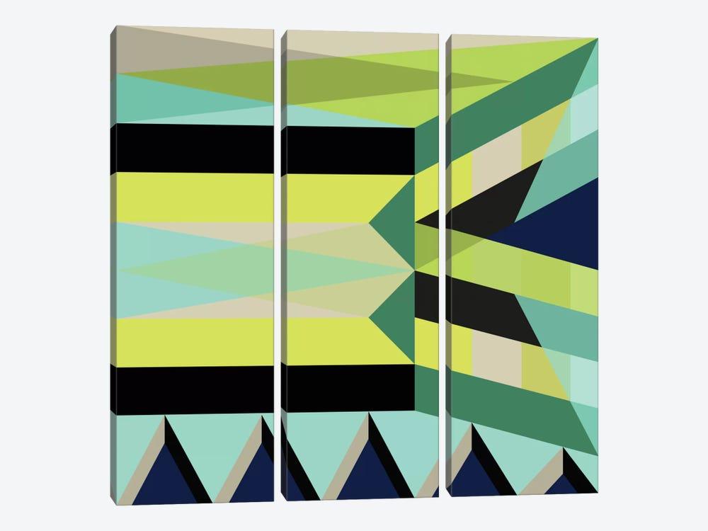 Geometric XXV by Susana Paz 3-piece Canvas Artwork