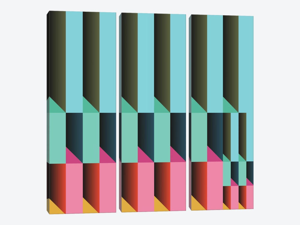 Geometric XXVI by Susana Paz 3-piece Canvas Print