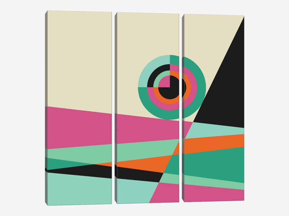 Geometric XXX by Susana Paz 3-piece Canvas Art Print