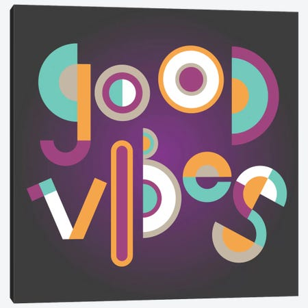Good Vibes Canvas Print #PAZ43} by Susana Paz Canvas Wall Art