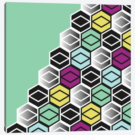 Hexagon Wall Canvas Print #PAZ45} by Susana Paz Canvas Print