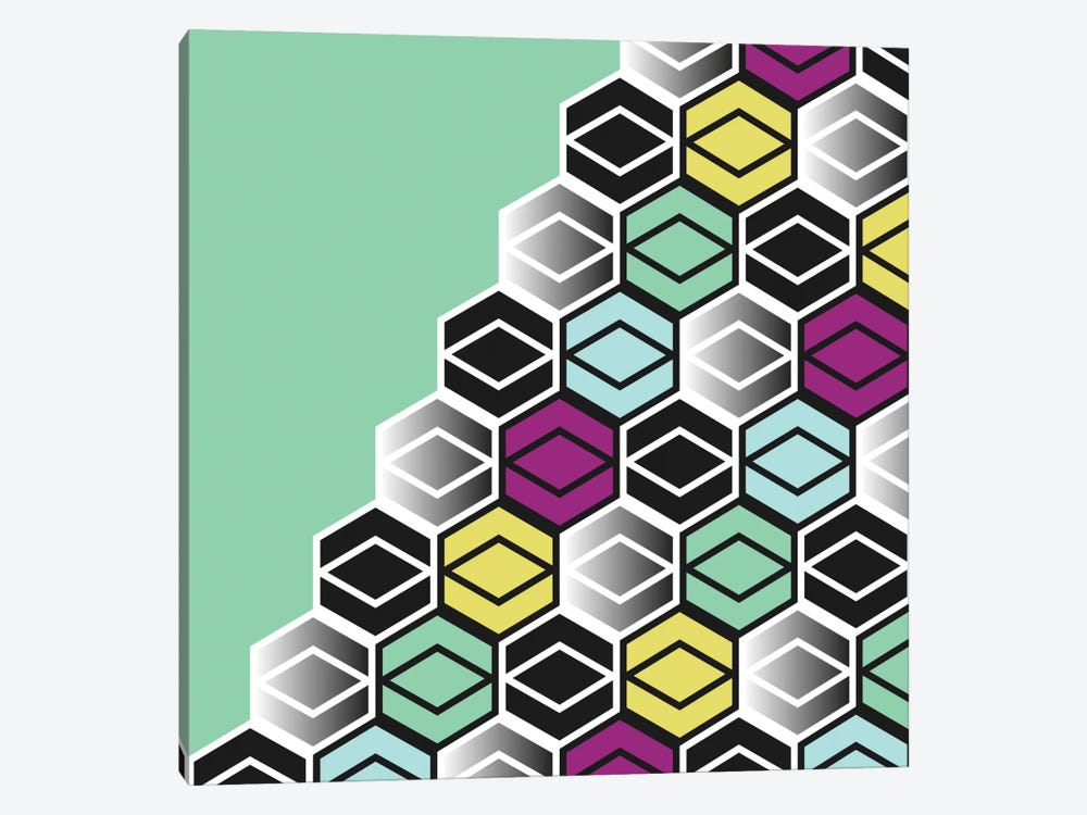 Hexagon Wall by Susana Paz 1-piece Canvas Wall Art