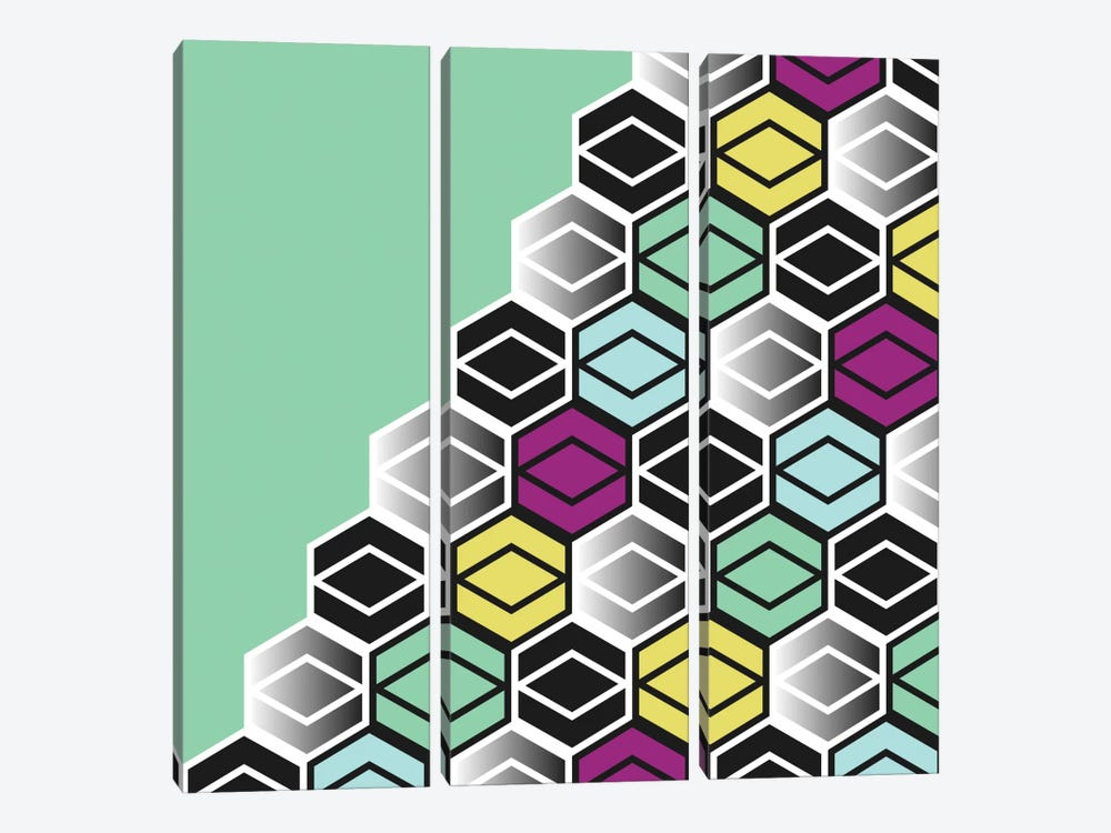 Hexagon Wall by Susana Paz 3-piece Canvas Wall Art
