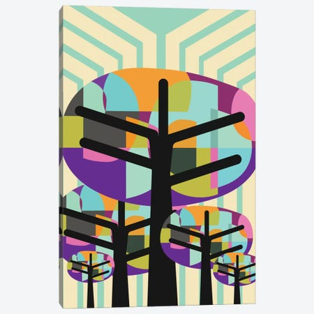 Joyful Trees Canvas Print #PAZ51} by Susana Paz Art Print
