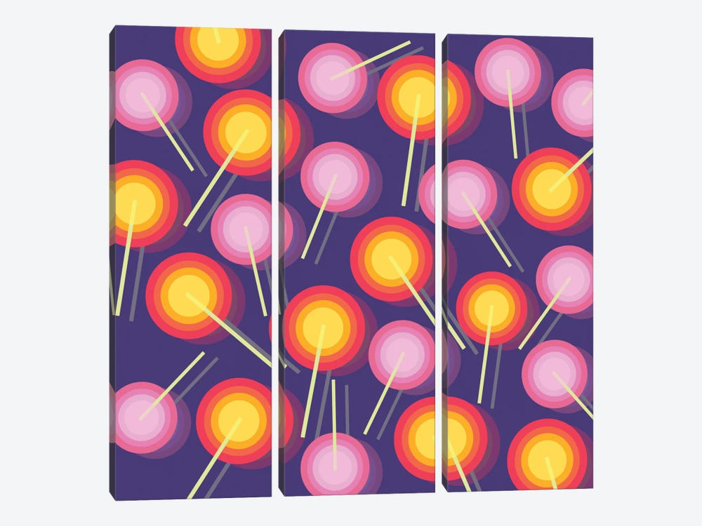 Lollipops by Susana Paz 3-piece Art Print