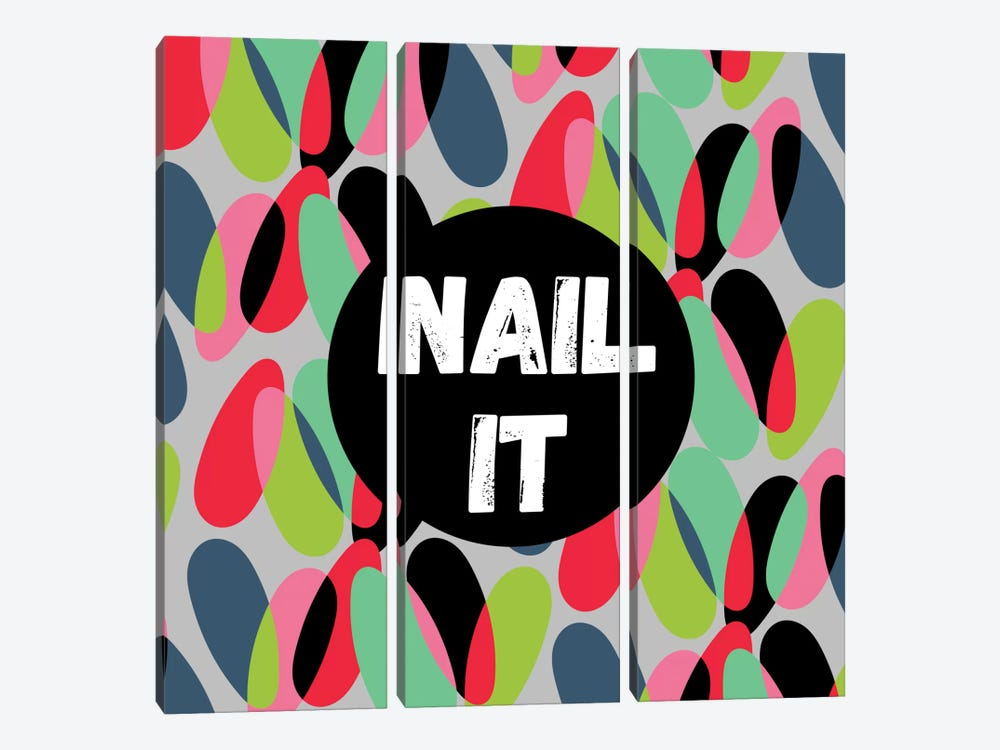 Nail It by Susana Paz 3-piece Canvas Print