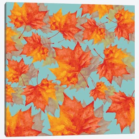 Autumn Leaves Canvas Print #PAZ5} by Susana Paz Art Print