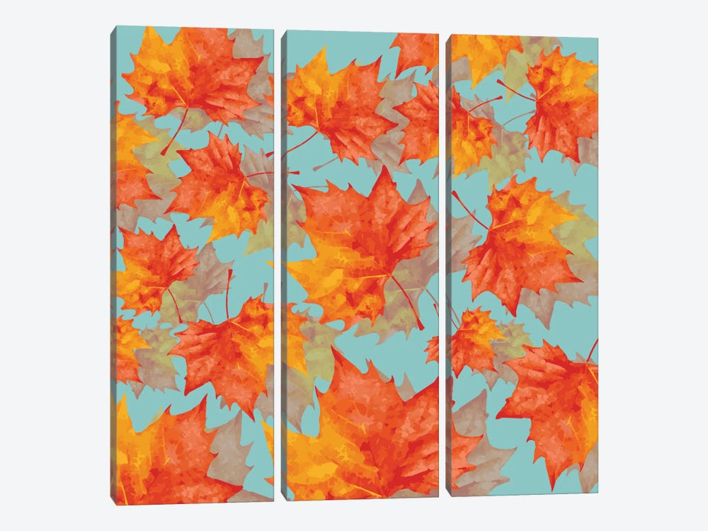 Autumn Leaves by Susana Paz 3-piece Art Print
