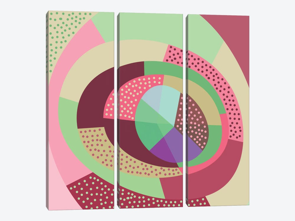 Naive V by Susana Paz 3-piece Canvas Art Print