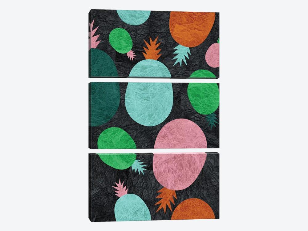 Paper Pineapple by Susana Paz 3-piece Canvas Artwork
