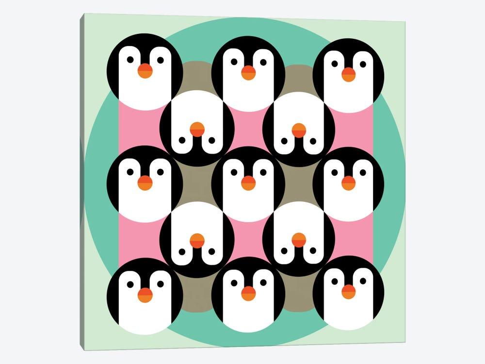 PenguinGame by Susana Paz 1-piece Canvas Art Print