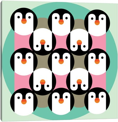 PenguinGame Canvas Art Print