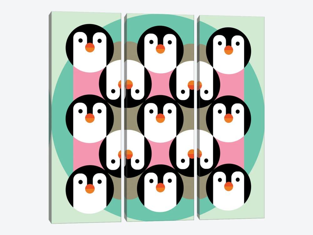 PenguinGame by Susana Paz 3-piece Art Print