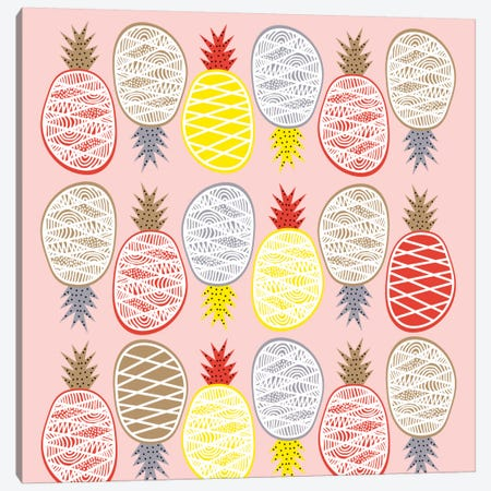 Pineapple I Canvas Print #PAZ69} by Susana Paz Canvas Artwork