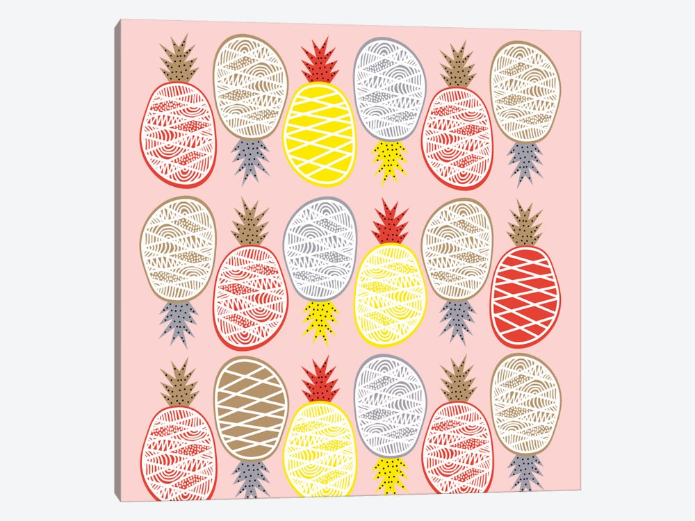 Pineapple I 1-piece Canvas Wall Art