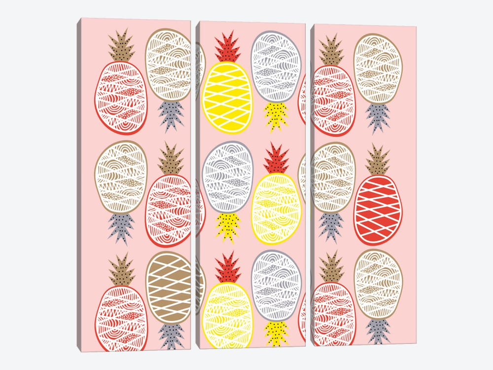 Pineapple I 3-piece Canvas Wall Art