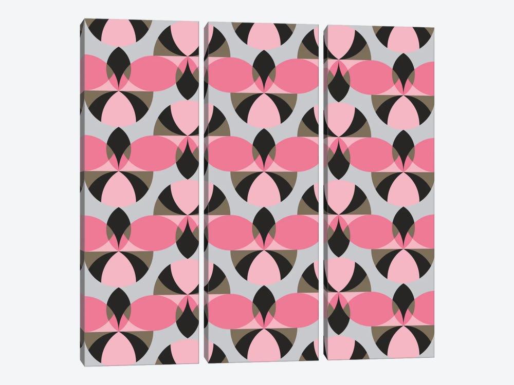 Pinky Pattern by Susana Paz 3-piece Canvas Art