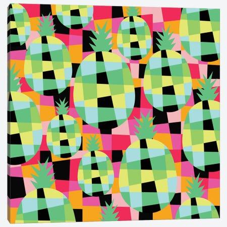 Pop-Pineapple Canvas Print #PAZ72} by Susana Paz Art Print
