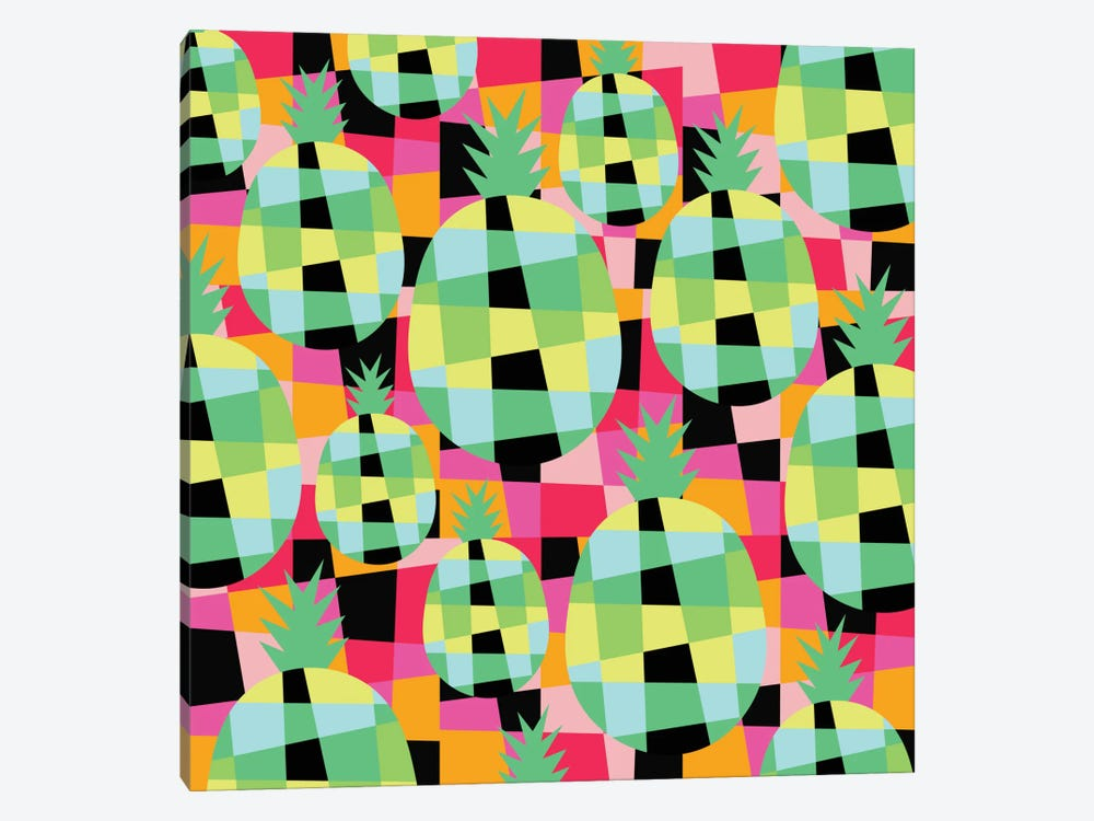 Pop-Pineapple by Susana Paz 1-piece Canvas Wall Art