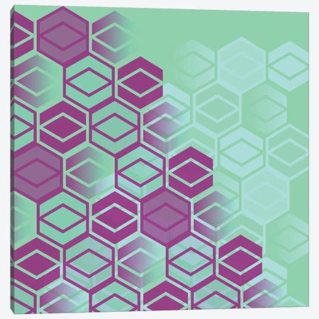 Purple On Mint Canvas Print #PAZ74} by Susana Paz Canvas Artwork