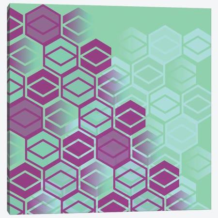 Purple On Mint Canvas Print #PAZ74} by Susana Paz Canvas Artwork