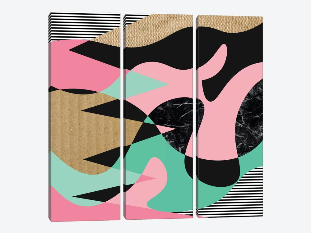 Shapes, Lines & Textures by Susana Paz 3-piece Canvas Artwork