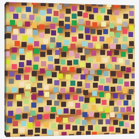 Squares On Gold Canvas Print #PAZ80} by Susana Paz Canvas Art