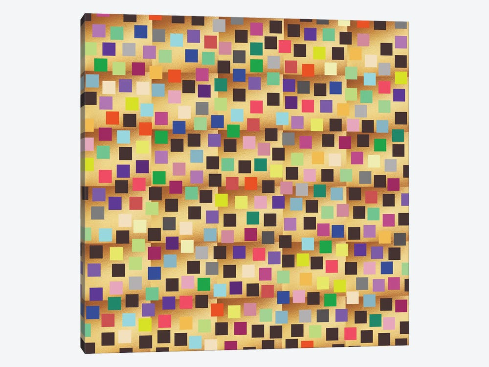 Squares On Gold by Susana Paz 1-piece Canvas Print
