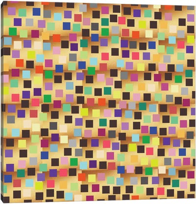 Squares On Gold Canvas Art Print