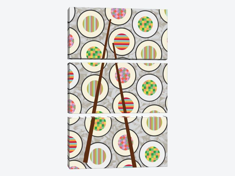 Sushi Time by Susana Paz 3-piece Canvas Print
