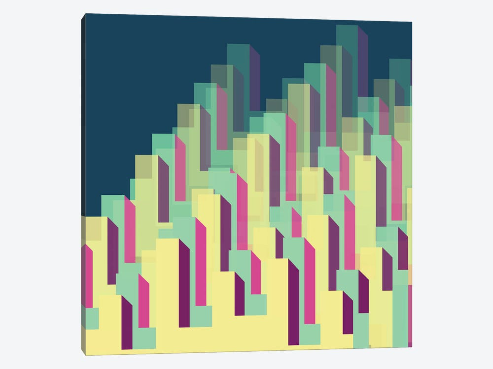 Blocks & Layers by Susana Paz 1-piece Canvas Artwork