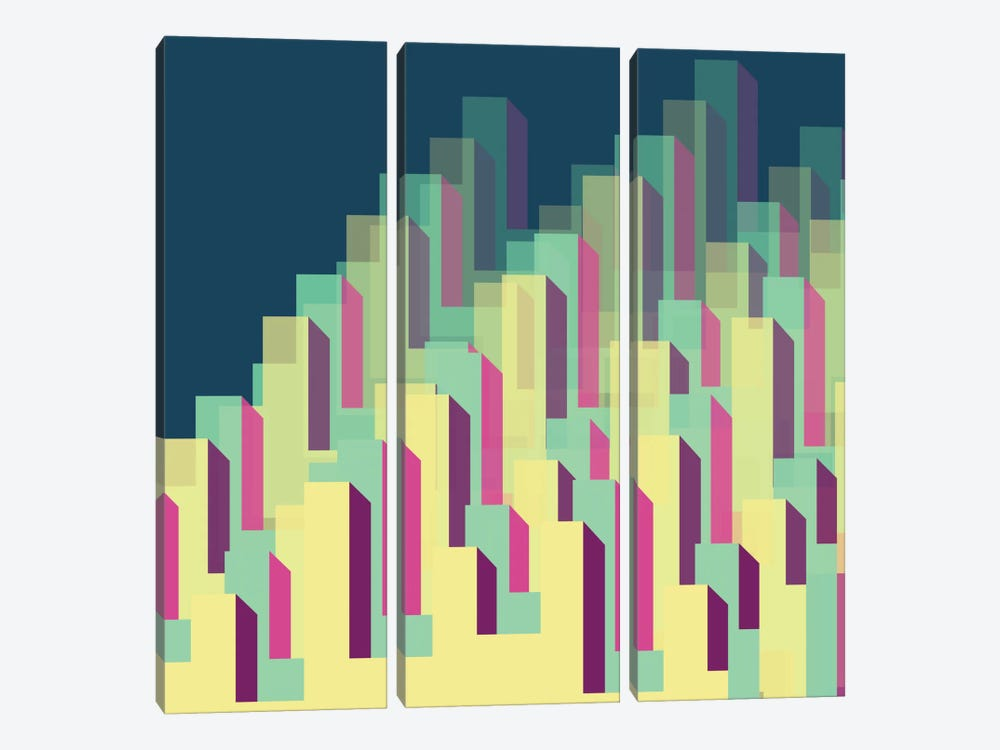 Blocks & Layers by Susana Paz 3-piece Canvas Artwork