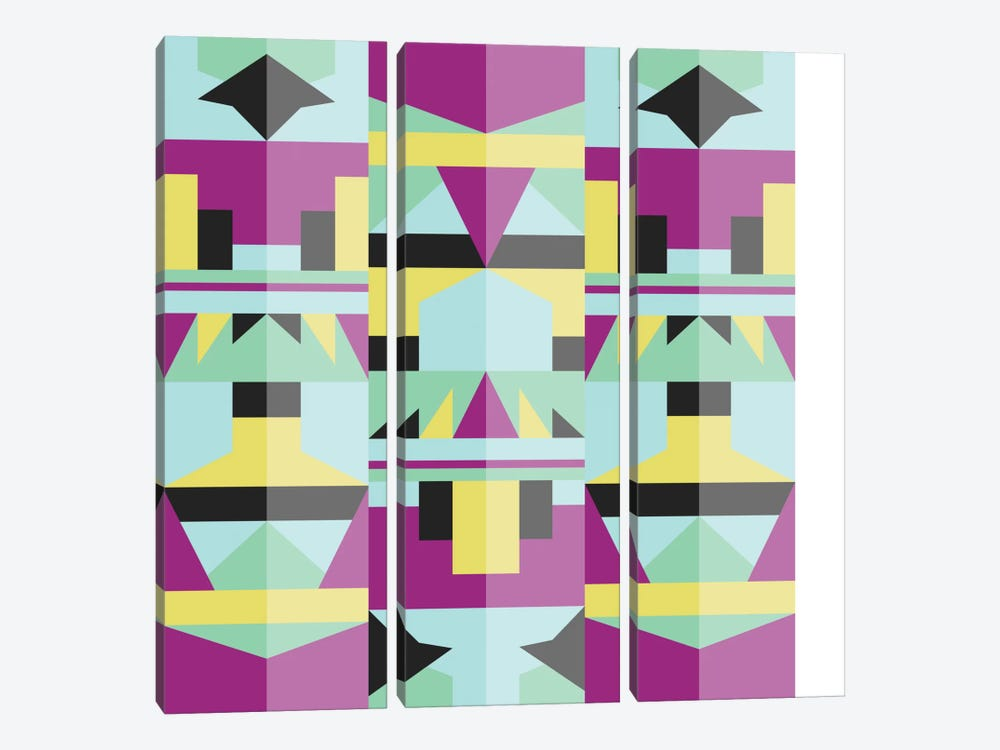 Tribal IV by Susana Paz 3-piece Canvas Artwork
