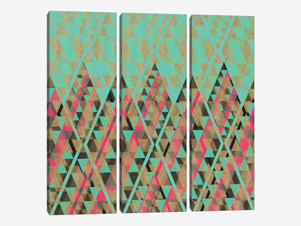 Tribal VII by Susana Paz 3-piece Canvas Art Print