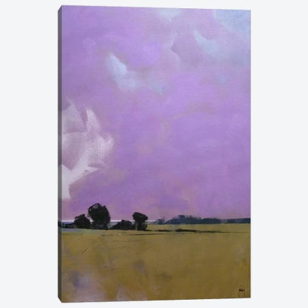 Over The Fields To The Distant Sea Canvas Print #PBA13} by Paul Bailey Canvas Wall Art