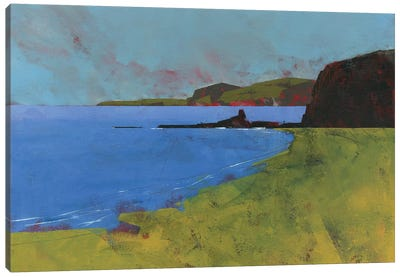 Ceredigion Cliffs Canvas Art Print