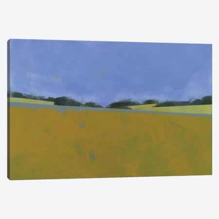 Distant Flax Canvas Print #PBA18} by Paul Bailey Canvas Artwork