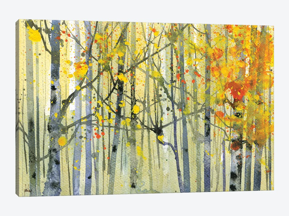 Autumn Birches by Paul Bailey 1-piece Canvas Artwork