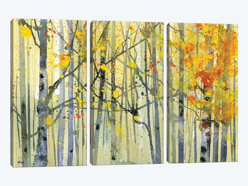 Autumn Birches by Paul Bailey 3-piece Canvas Wall Art