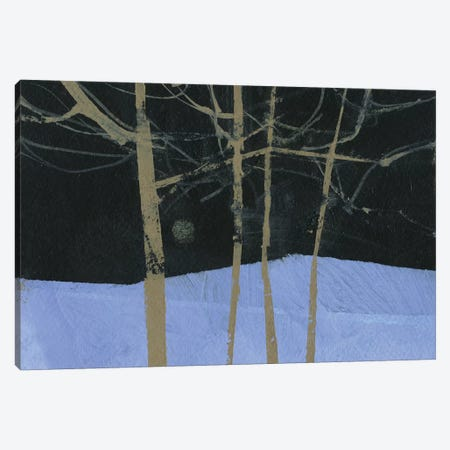 Four Trees and The Moon II Canvas Print #PBA25} by Paul Bailey Canvas Art