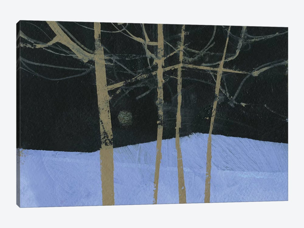 Four Trees and The Moon II by Paul Bailey 1-piece Canvas Wall Art
