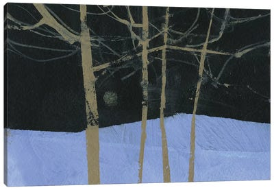 Four Trees and The Moon II Canvas Art Print