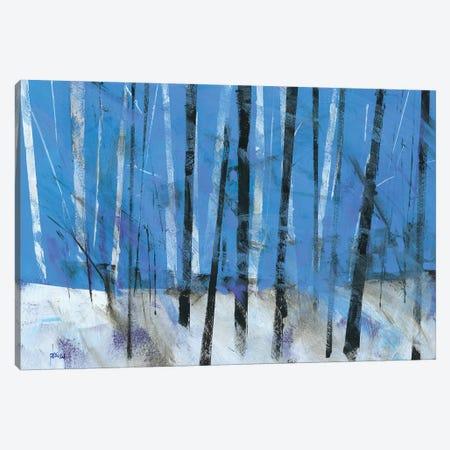 Birch & Black Ash Saplings Canvas Print #PBA3} by Paul Bailey Art Print