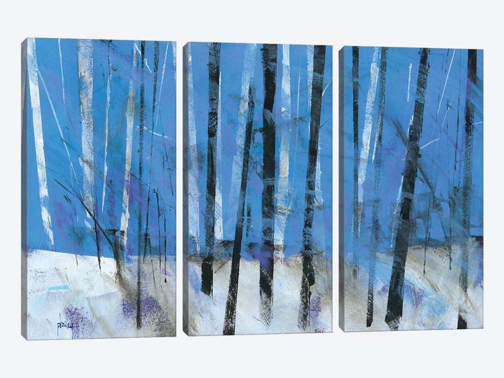 Birch & Black Ash Saplings by Paul Bailey 3-piece Canvas Art