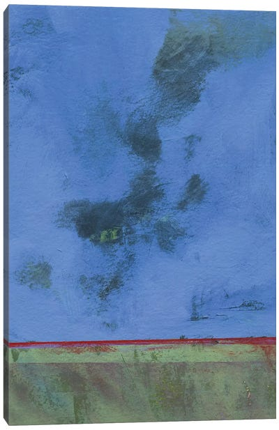 Twilight Over Red Marsh Canvas Art Print