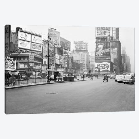 1948 Streetscape, Times Square, New York City, New York, USA Canvas Print #PBE11} by Peter Bennett Canvas Art