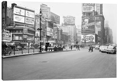 1948 Streetscape, Times Square, New York City, New York, USA Canvas Art Print