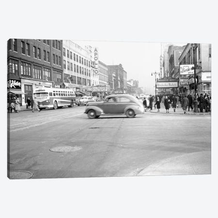 1948 Streetscape, 125th Street & 8th Ave., Harlem, New York City, New York, USA Canvas Print #PBE12} by Peter Bennett Canvas Art