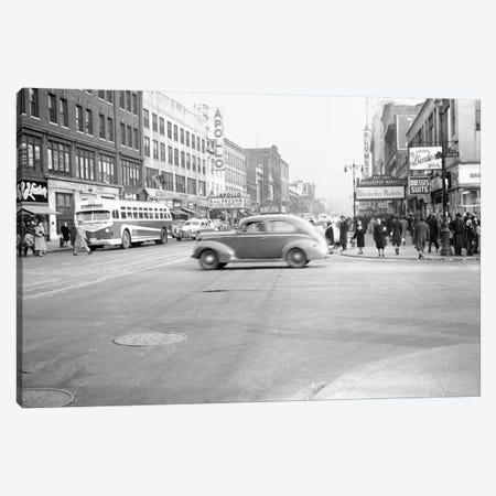 1948 Streetscape, 125th Street & 8th Ave., Harlem, New York City, New York, USA Canvas Print #PBE12} by Peter Bennett Canvas Art