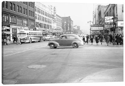 1948 Streetscape, 125th Street & 8th Ave., Harlem, New York City, New York, USA Canvas Art Print